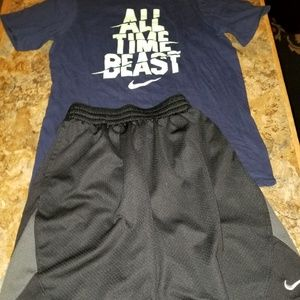 Nike dri fit athletic shorts outfit